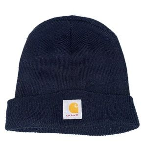 Blue Carhartt Workwear Foldover Beanie Watch Hat
